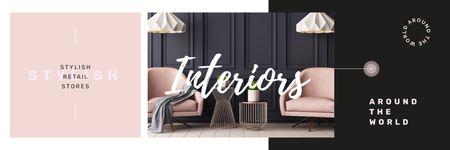 Plantilla de diseño de Cozy modern interior  Twitter