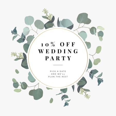 Wedding Party planning offer Instagram AD Modelo de Design