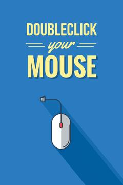 Illustration of Computer Mouse in blue