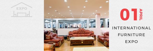 International Furniture Expo Twitter Design Template