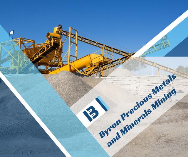 Ontwerpsjabloon van Facebook van Mining company Production Plant