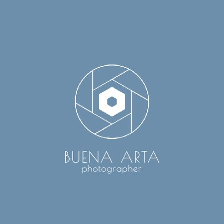Template di design Photo Services Ad with Camera Shutter in Blue Animated Logo