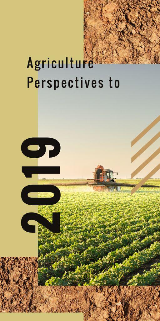Harvester working in field — Crea un design