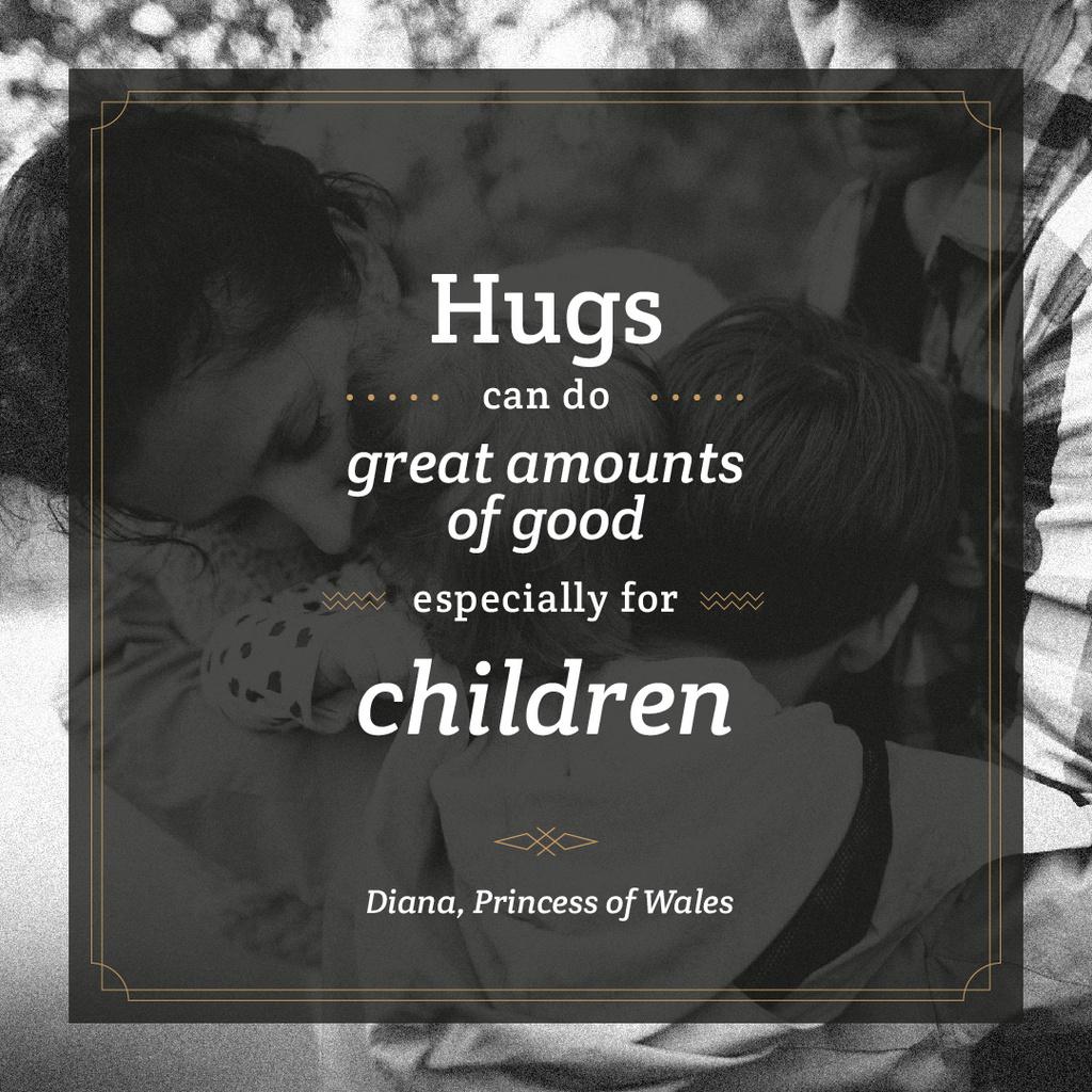 Parents hugging with kids  — Создать дизайн