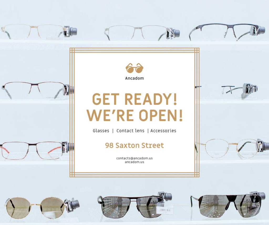 Glasses Store Opening Announcement — Créer un visuel