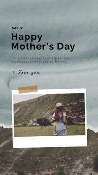Mother's Day Greeting Loving Mother Carrying Child | Vertical Video Template