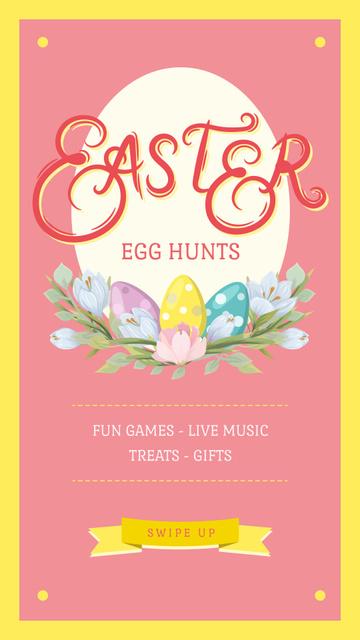 Modèle de visuel Colored Easter eggs - Instagram Story