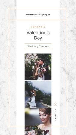 Valentines Day Card with Romantic Newlyweds Instagram Story Tasarım Şablonu