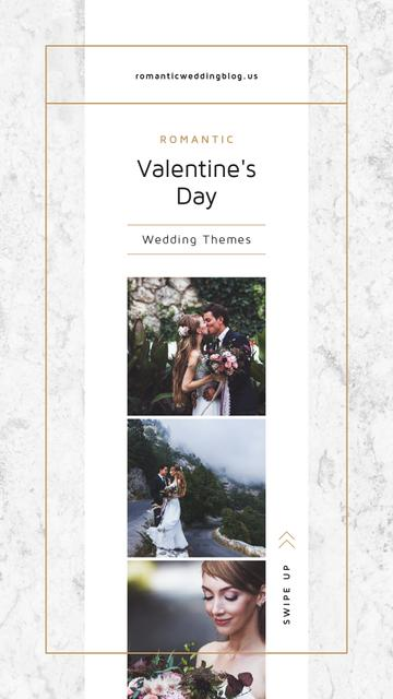 Template di design Valentines Day Card with Romantic Newlyweds Instagram Story