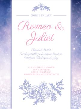 Romeo and Juliet ballet performance announcement