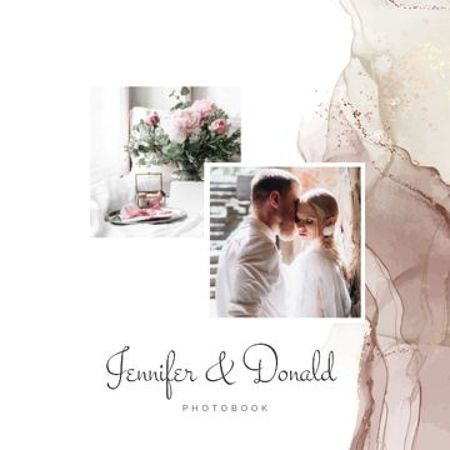 Wedding Story of Cute Couple Photo Book Tasarım Şablonu