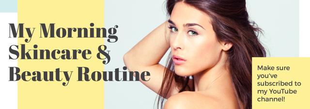 Szablon projektu Skincare Routine Tips Woman with Glowing Skin Tumblr