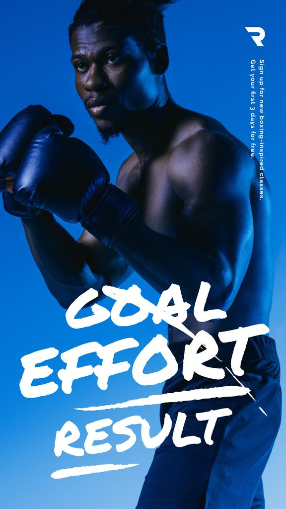 Gym Ticket Offer Man in Boxing Gloves — Crea un design