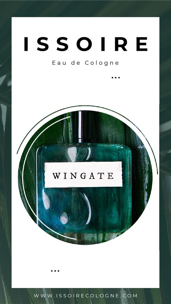 Perfume Ad with Green glass bottle | Vertical Video Template — Crea un design