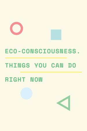 Eco-consciousness concept with simple icons Tumblr Tasarım Şablonu