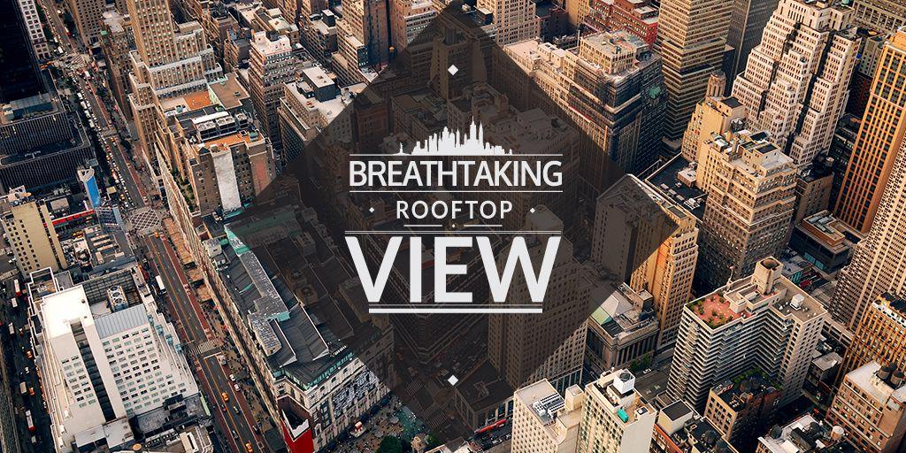 City Guide Breathtaking Buildings View | Twitter Post Template — Crea un design