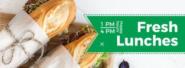 fresh lunches happy hours poster