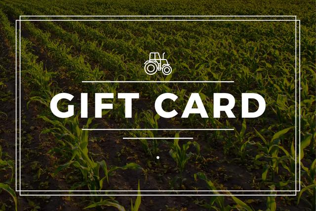 Plantilla de diseño de Agriculture Equipment Offer with Field and Tractor Icon Gift Certificate