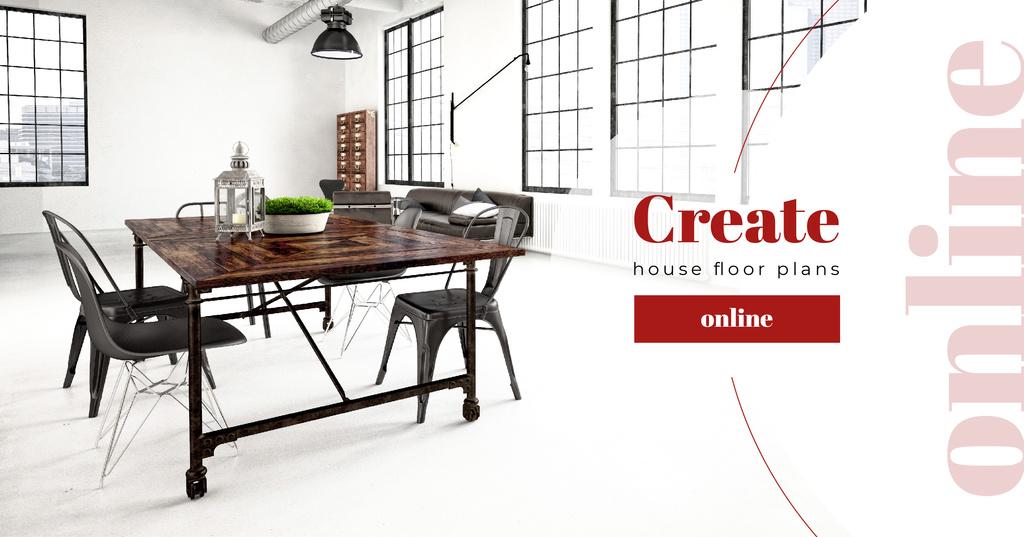 Stylish Dining Room Interior — ein Design erstellen