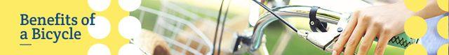 Ontwerpsjabloon van Leaderboard van Cycling Inspiration Woman Riding Bicycle