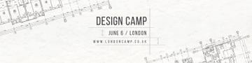 Design camp Ad with Blueprints