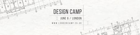 Plantilla de diseño de Design camp Ad with Blueprints Twitter