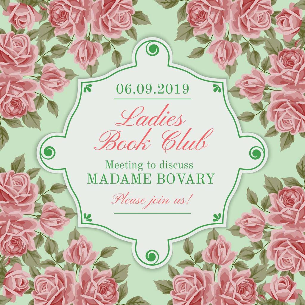 Ladies Book Club Invitation — Crear un diseño