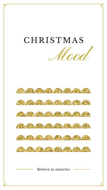 Ontwerpsjabloon van Instagram Story van Christmas card with shiny glitter