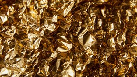 Ontwerpsjabloon van Zoom Background van Shiny Golden Foil