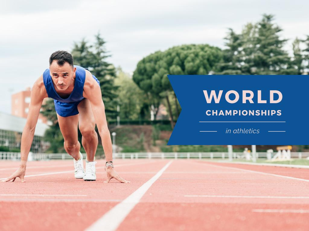 World Championships Ad with Man at Start Position — Crear un diseño