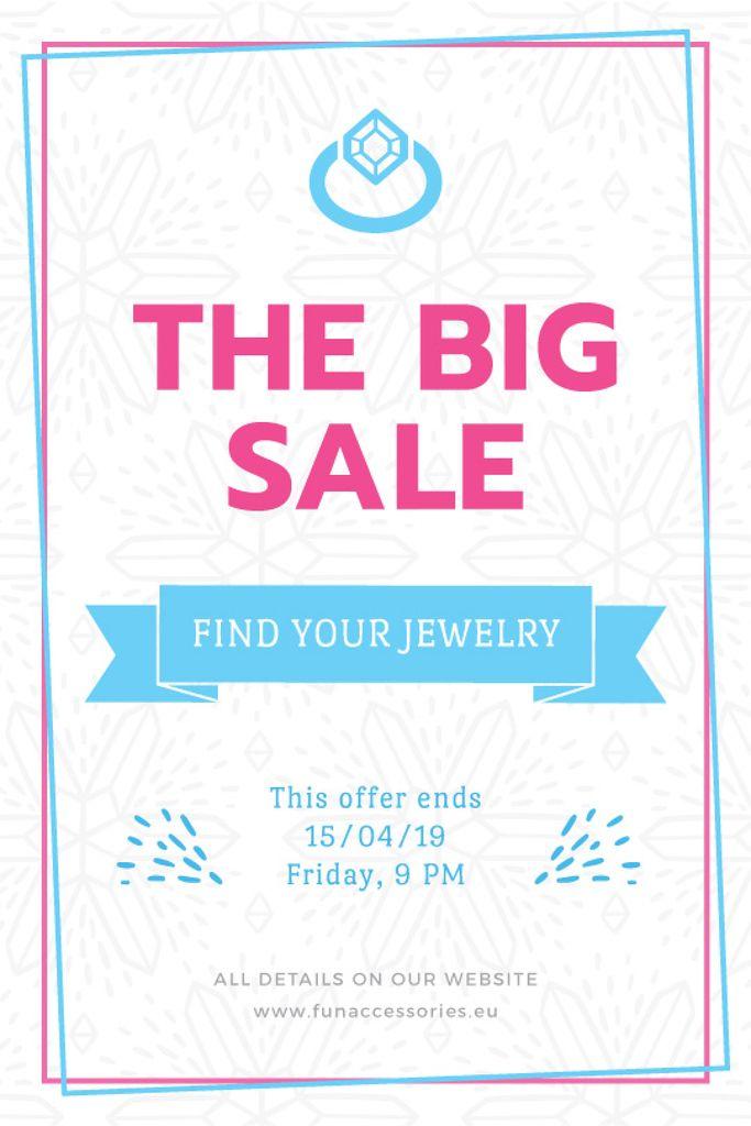 Jewelry Sale Advertisement Shiny Chrystal Tumblr Design Template