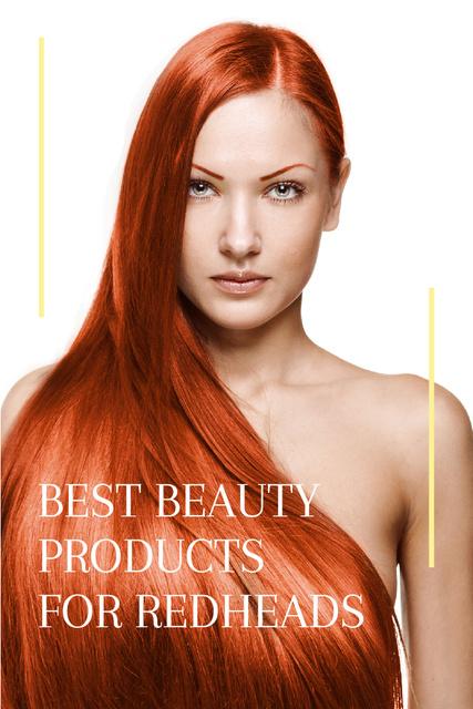 Szablon projektu Best beauty products for redheads Pinterest