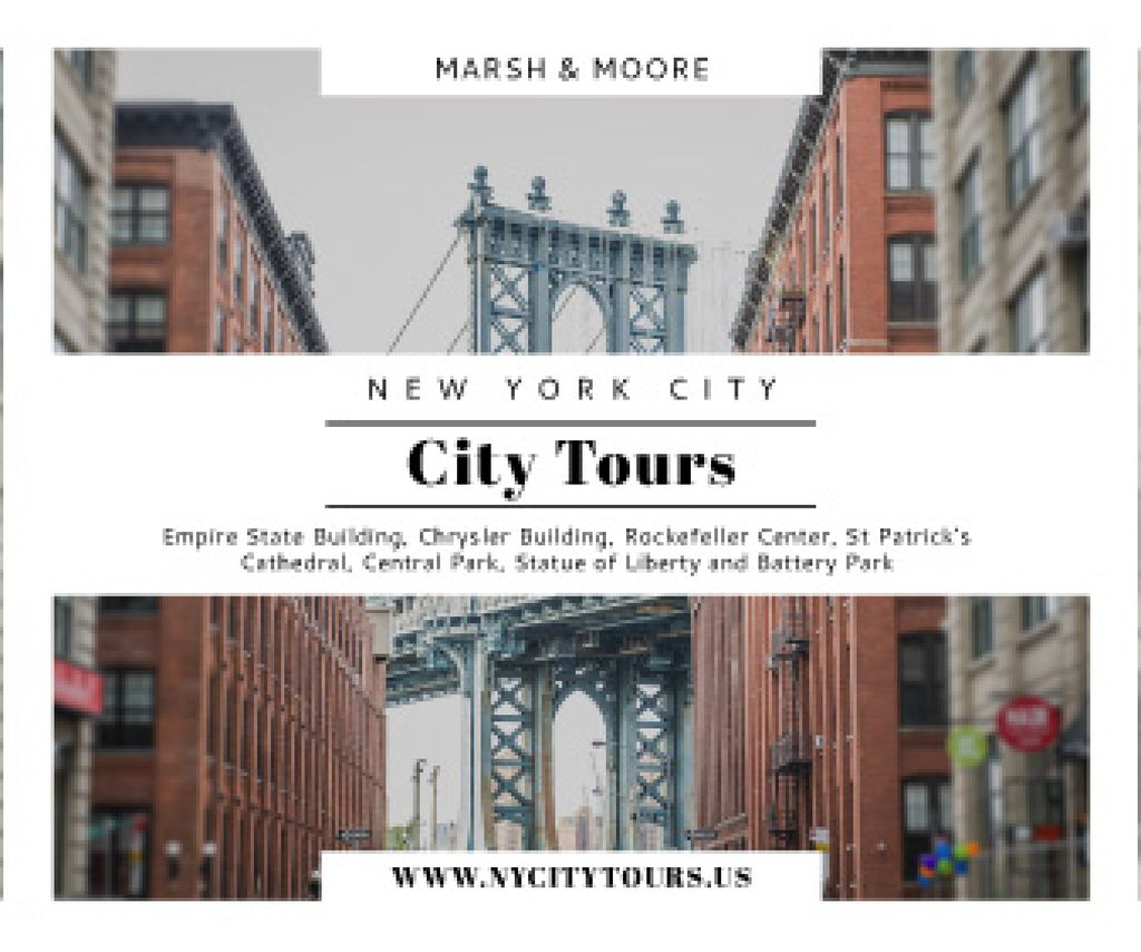 New York city tours advertisement — Maak een ontwerp