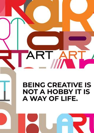 Citation about how to be a creative Poster Modelo de Design