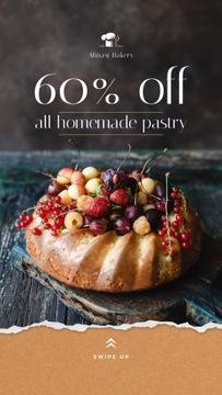 Bakery Offer Sweet Pie with Berries