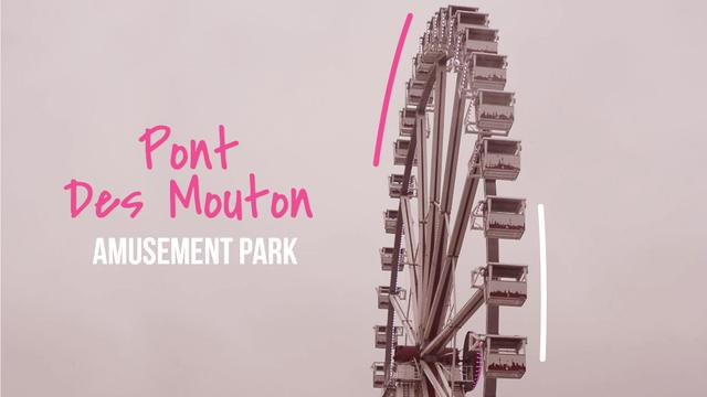 Modèle de visuel Rotating Ferris wheel - Full HD video