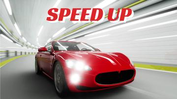 Red Sports Car Driving Fast | Full Hd Video Template
