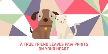 Pets Quote Cute Dog and Cat