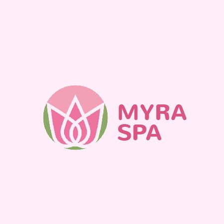 Template di design Spa Center Ad with Lotus Flower Animated Logo