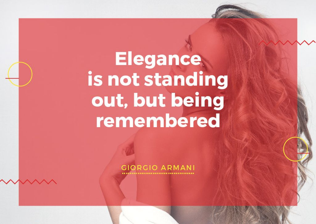 Citation about Elegance being remembered — Створити дизайн