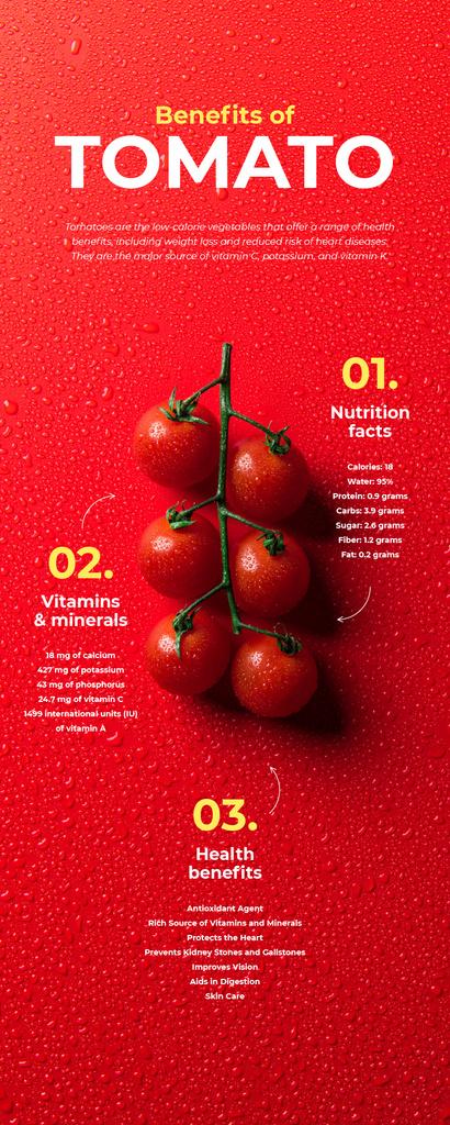 Food infographics about Benefits of Tomato — Modelo de projeto