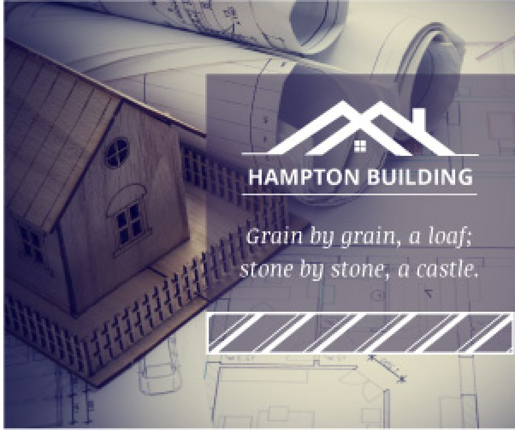Hampton building poster — Crea un design