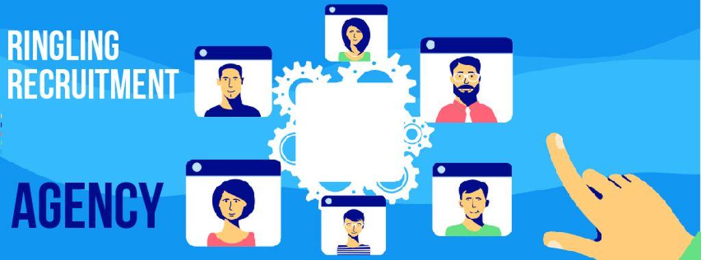 Recruitment Agency Searching Candidates — Maak een ontwerp