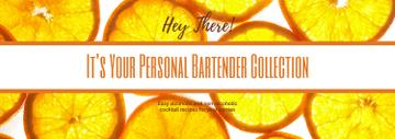 Yellow Citrus Slices on White | Tumblr Banner Template
