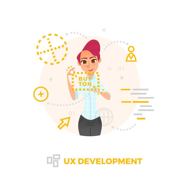Modèle de visuel Businesswoman using analytics tools on smart screen - Animated Post