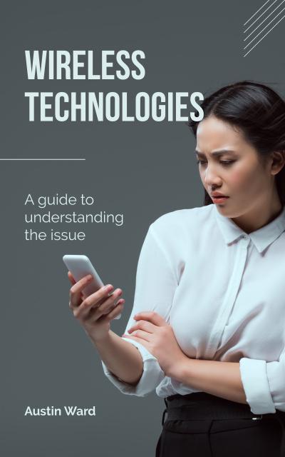 Plantilla de diseño de Woman using smartphone Book Cover