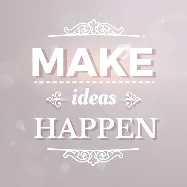 Template di design Motivational Ideas quote in ornate frame Instagram AD