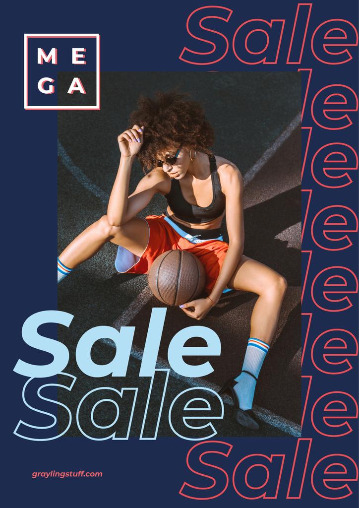Woman holding basketball ball — Create a Design
