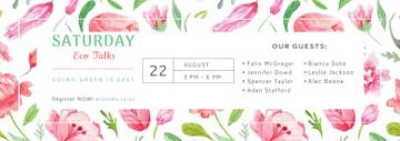 Eco Event Announcement Watercolor Flowers Pattern | Tumblr Banner Template