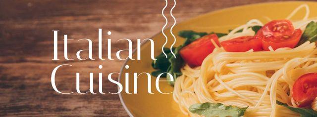 Plantilla de diseño de Pasta Restaurant tasty Italian Dish Facebook cover